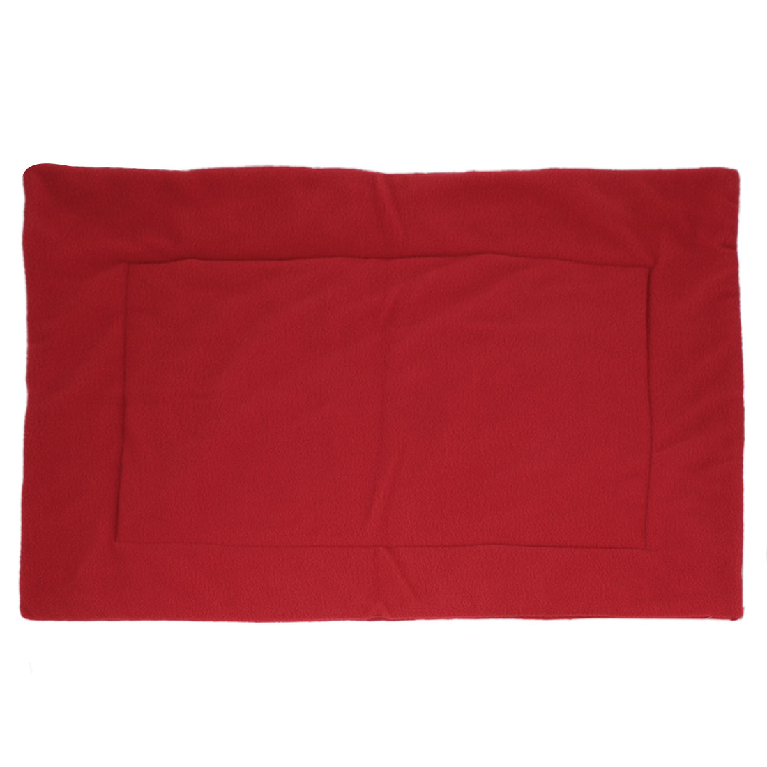 Winter Warm Red Rectangular Cushion Pad Mat 70cm x 50cm for Pet Cat Dog