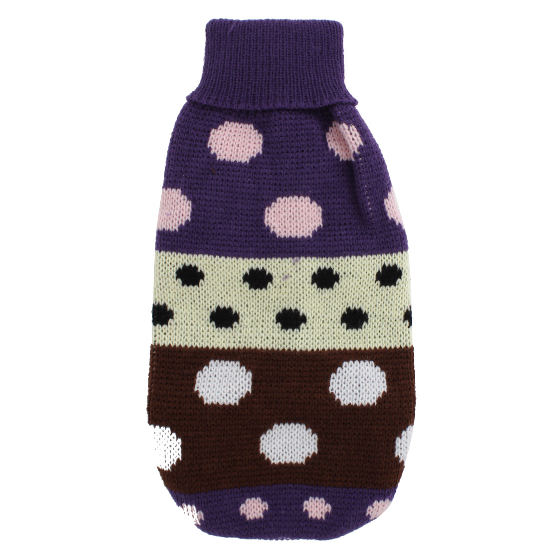 Pet Dog Puppy Ribbed Cuff Knitwear Turtleneck Warm Apparel Sweater Assorted Color Size XXS