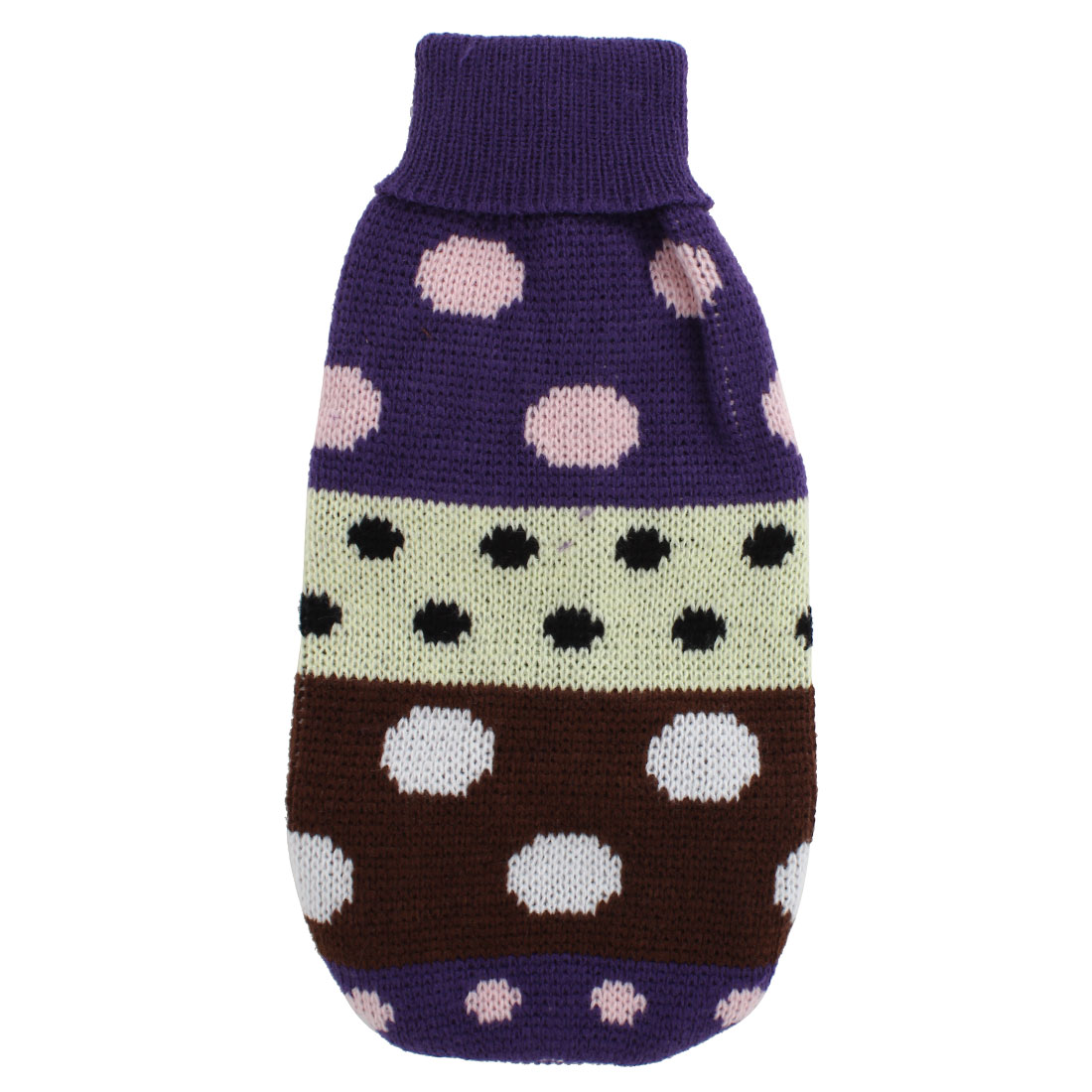 Pet Dog Puppy Ribbed Cuff Knitwear Turtleneck Warm Apparel Sweater Assorted Color Size XS