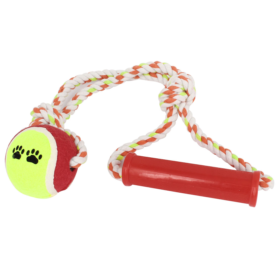 Pet Dog Puppy Braided Rope Tennis Ball Grinding Clean Teeth Playing Chew Squeeze Toy