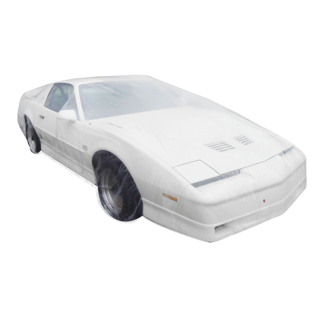 Clear Plastic Temporary Universal Disposable Car Cover Rain Dust Garage L
