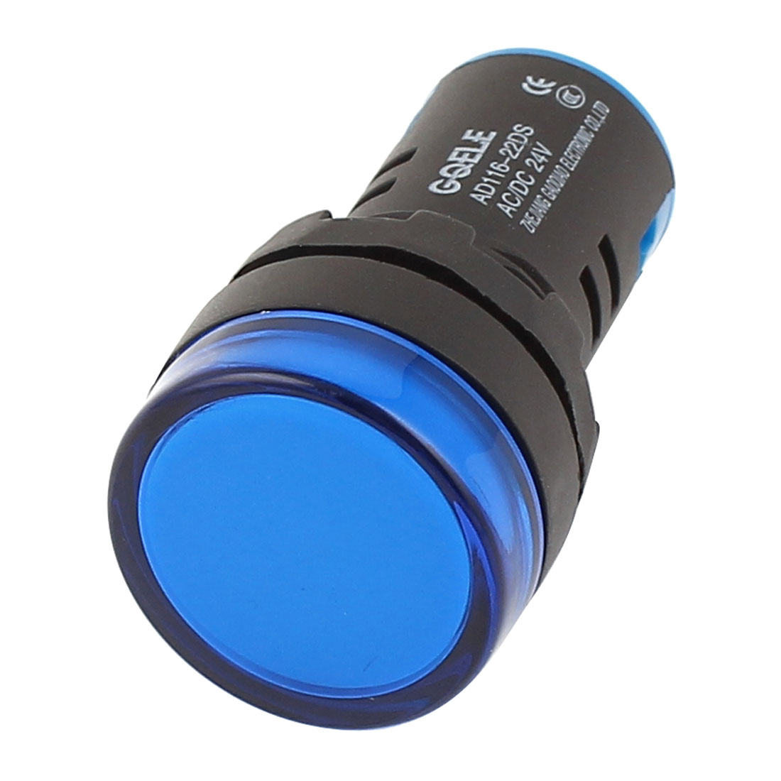 AD116-22DS AC/DC 24V 20mA Energy Saving LED Indicator Light Blue