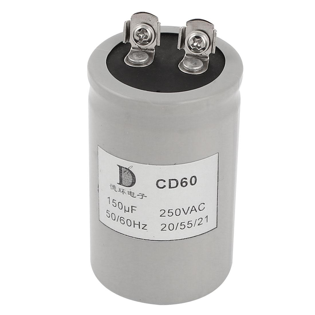 AC 250V 50/60Hz 150uF CD60 Type Motor Starting Capacitor
