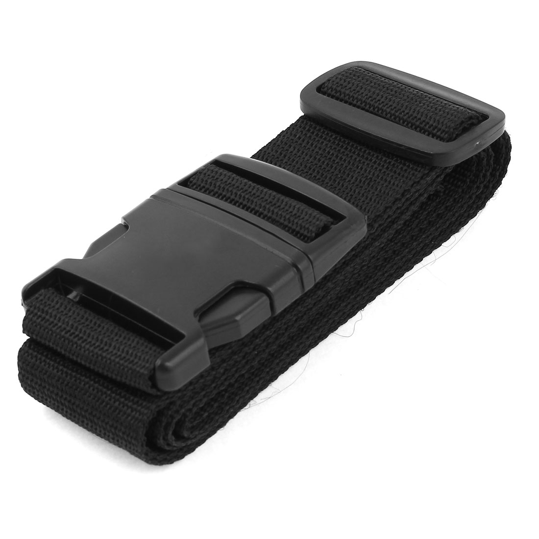 "Travel Quick Release Buckle Luggage Strap 101cm 3.3ft Long 2"" Width Black"