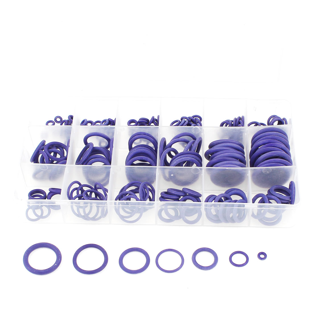 238 Pcs 18 Sizes O-ring Oil Seal Sealing Ring Gaskets Purple