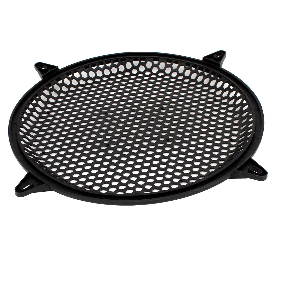 "Black Plastic Mesh Round Truck Car Woofer Cover Speaker Subwoofer Grill 12"" Dia"