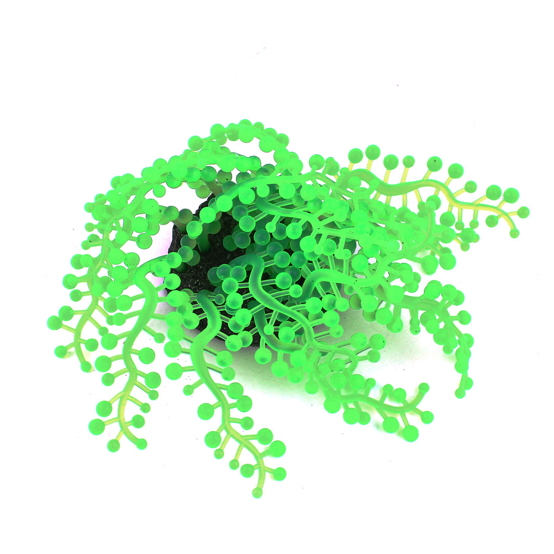 "3.7"" High Soft Silicone Aquarium Fish Tank Underwater Plants Decoration Green"