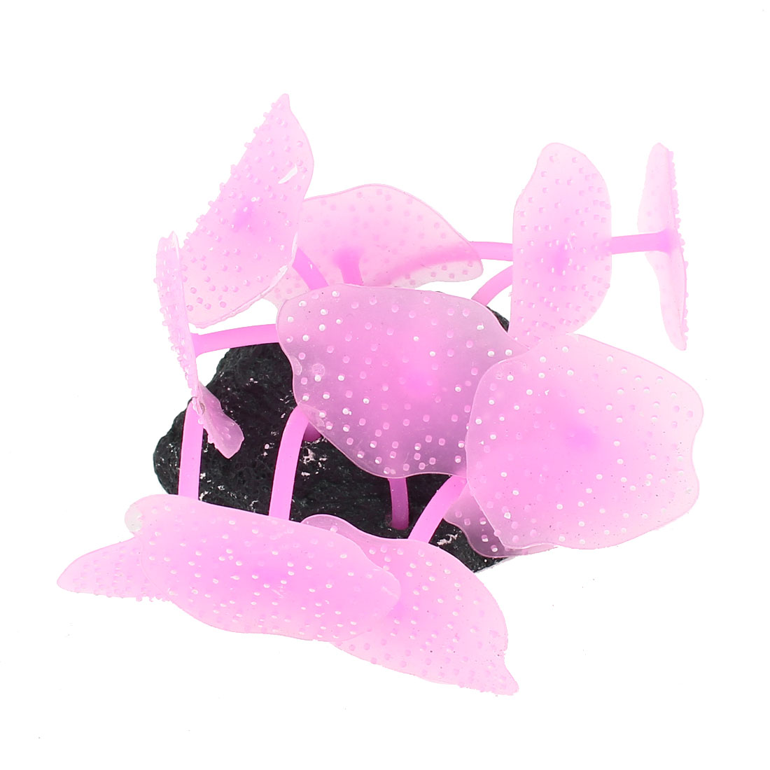 "3.3"" High Soft Silicone Aquarium Fish Tank Coral Anemone Decoration Pink"