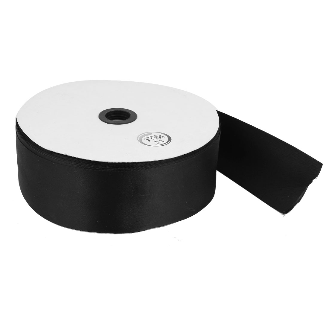 Black 4.9cm Width DIY Craft Wedding Party Sewing Decor Ribbon Roll Tape 100 Yard 91m Length