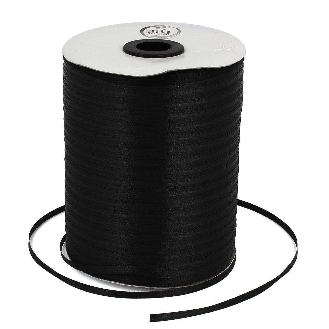 Black 0.3cm Width DIY Craft Wedding Party Sewing Decor Ribbon Roll Tape 880 Yard 805M