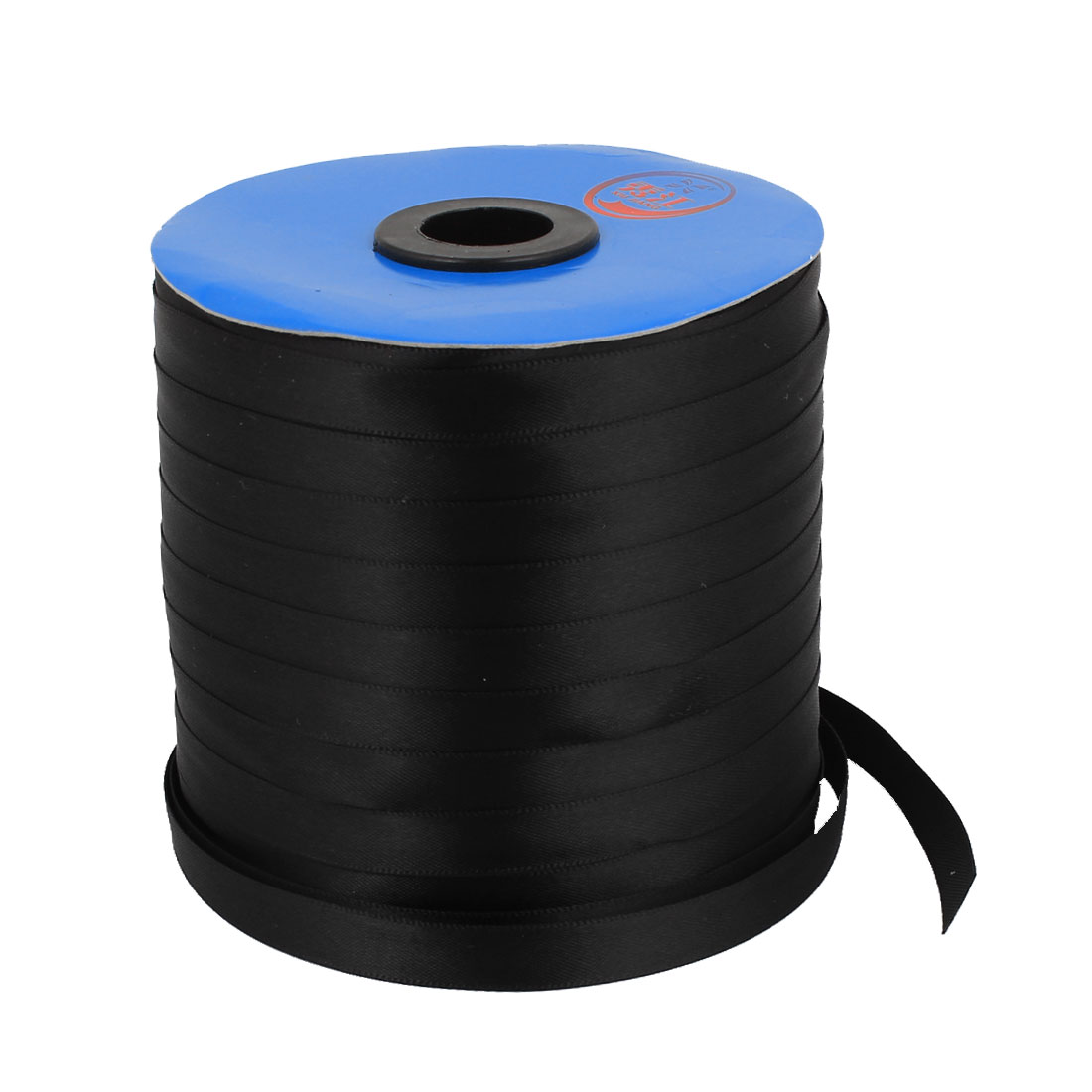 Black 1cm Width DIY Craft Gift Package Polyester Ribbon Roll Tape 200 Yard 183m Length