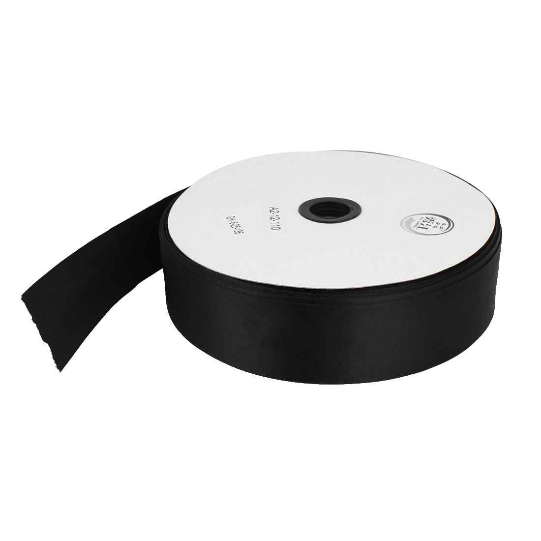 Black 3.8cm Width DIY Craft Wedding Party Sewing Decor Ribbon Roll Tape 100 Yard