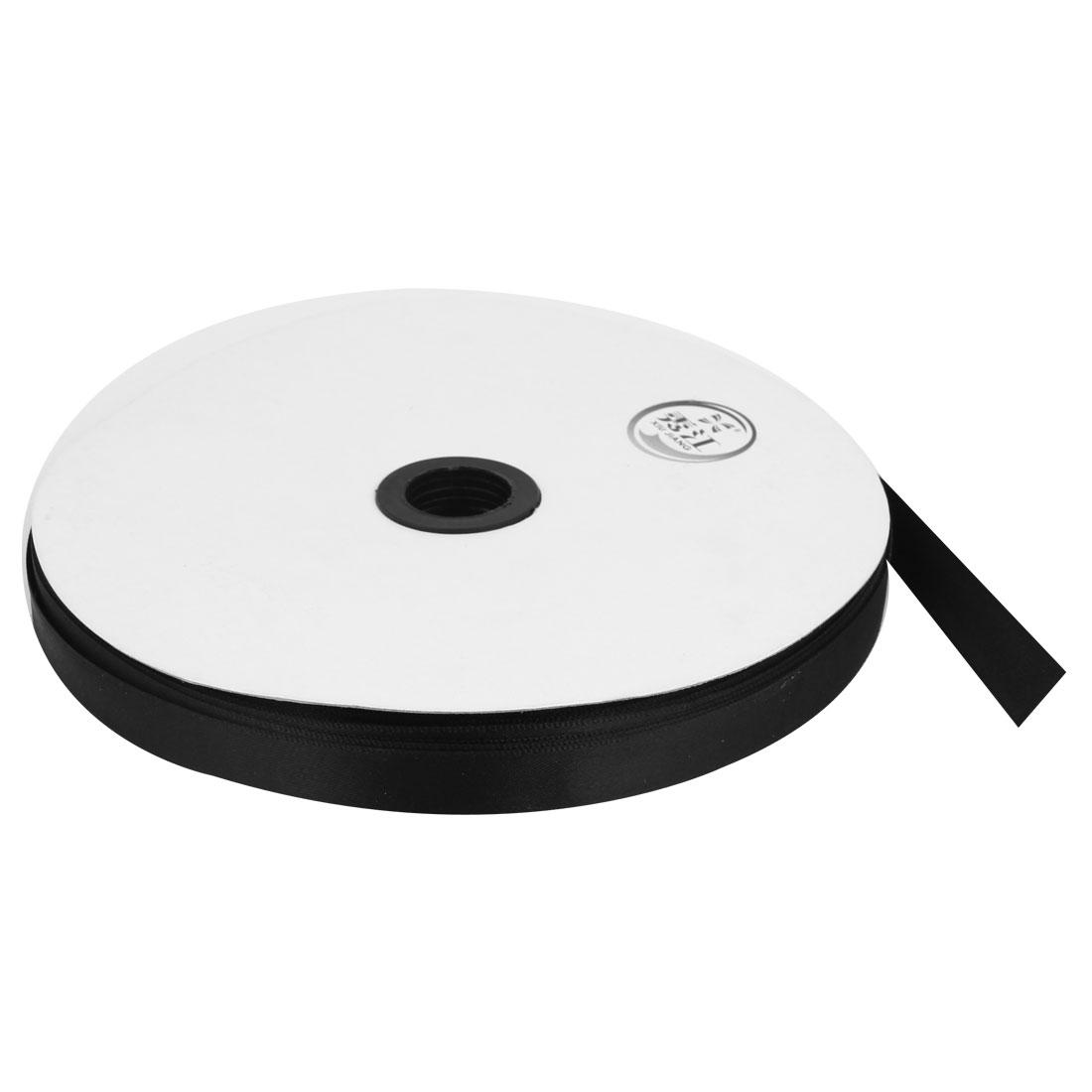 Black 1.3cm Width DIY Craft Wedding Party Sewing Decor Ribbon Roll Tape 100 Yard 91m Length