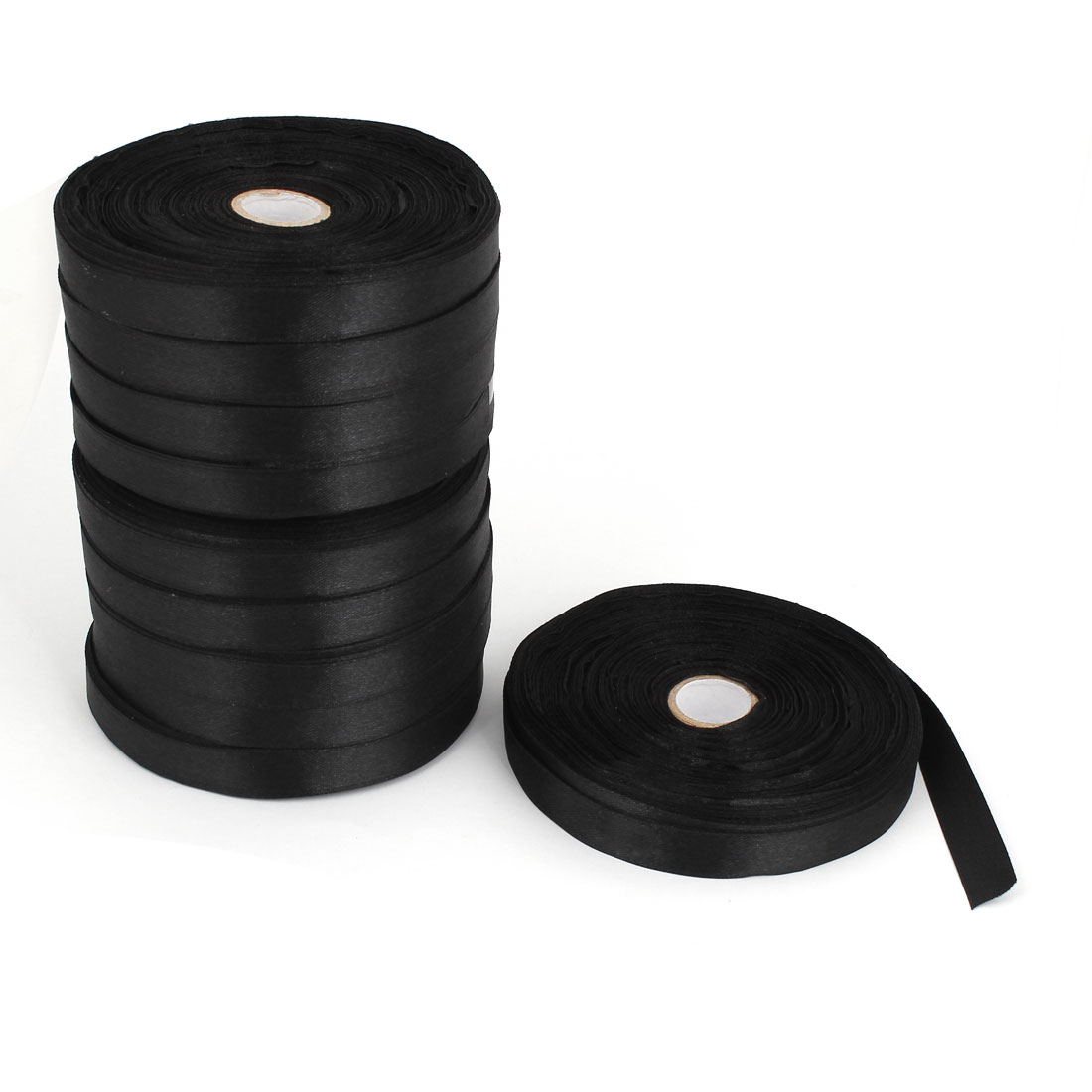 10 Pcs Black 1.3cm Width DIY Craft Wedding Party Sewing Decor Ribbon Roll Tape 500 Yard 457M