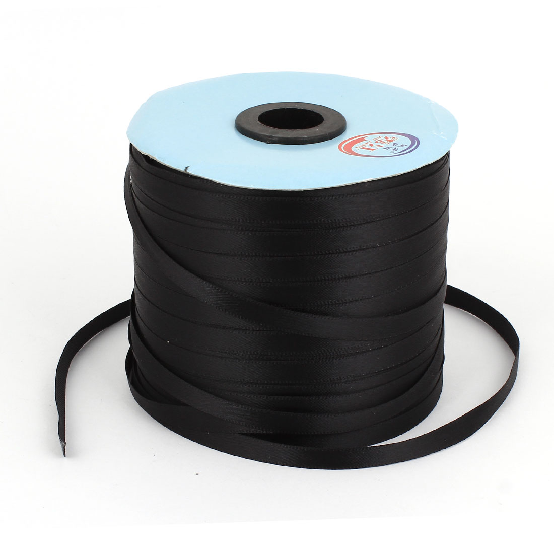 Black 0.6cm Width DIY Craft Gift Package Polyester Ribbon Roll Tape 300 Yard 274m Length