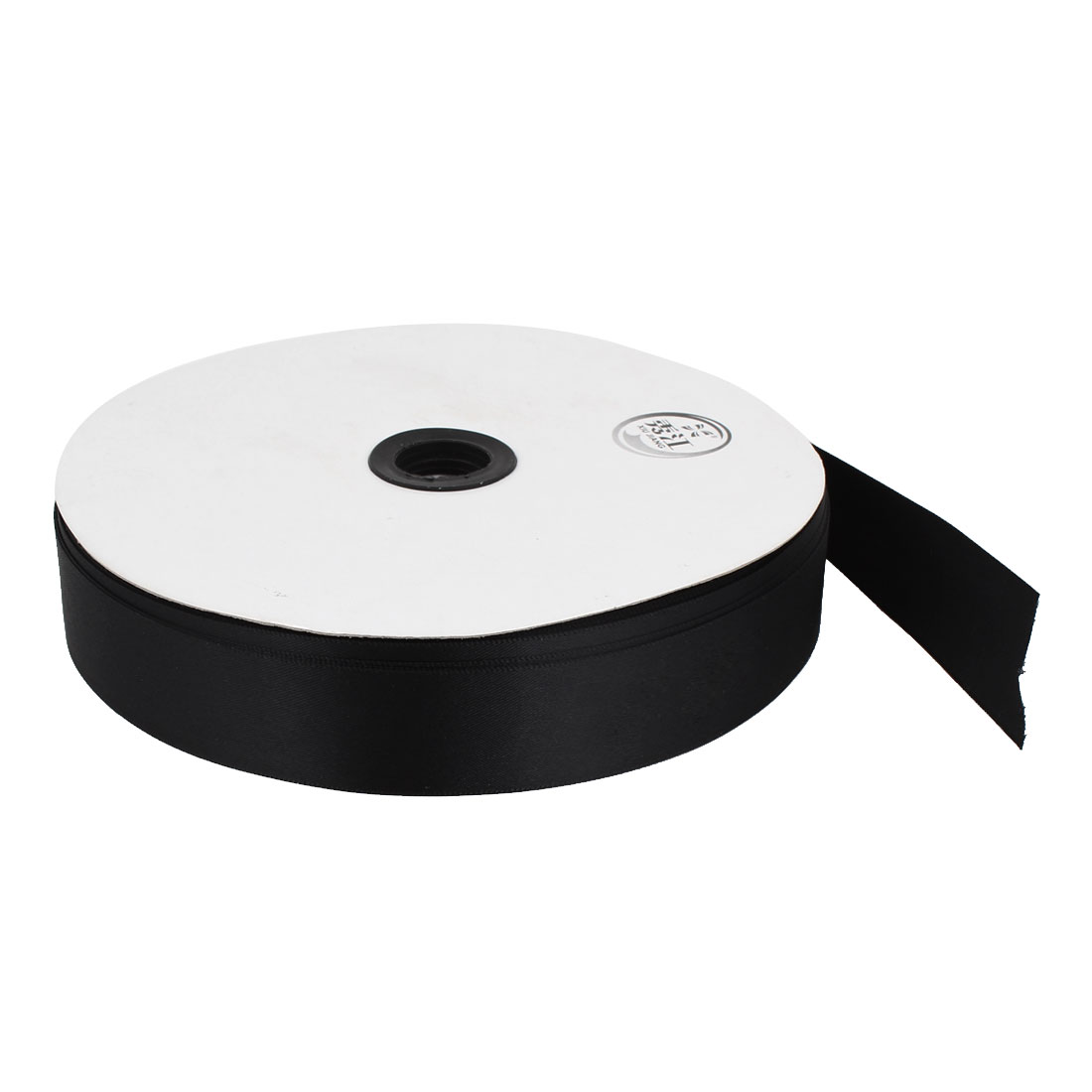 Black 2.5cm Width DIY Craft Wedding Party Sewing Decor Ribbon Roll Tape 100 Yard 91m Length
