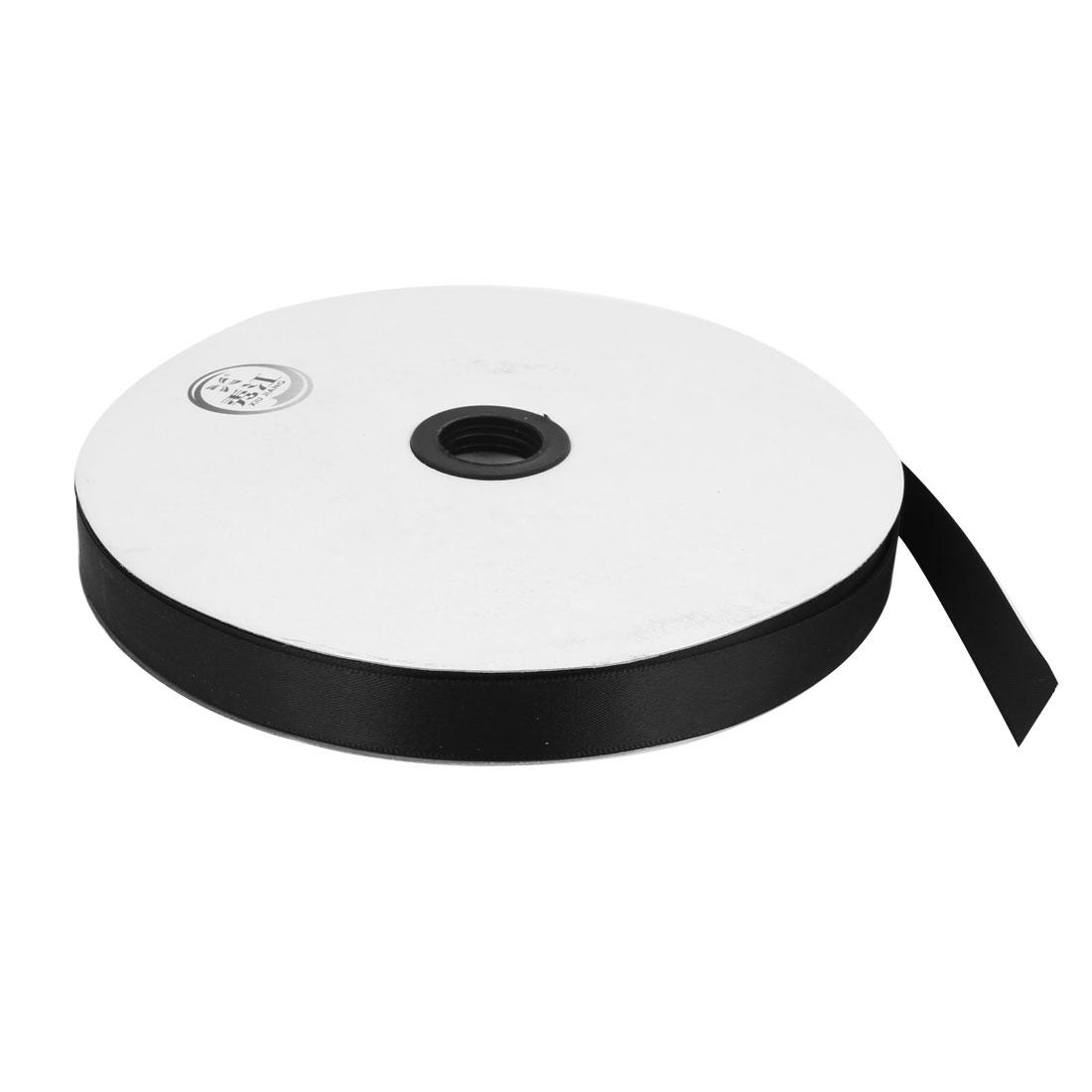 Black 1.5cm Width DIY Craft Wedding Party Sewing Decor Ribbon Roll Tape 100 Yard 91m Length
