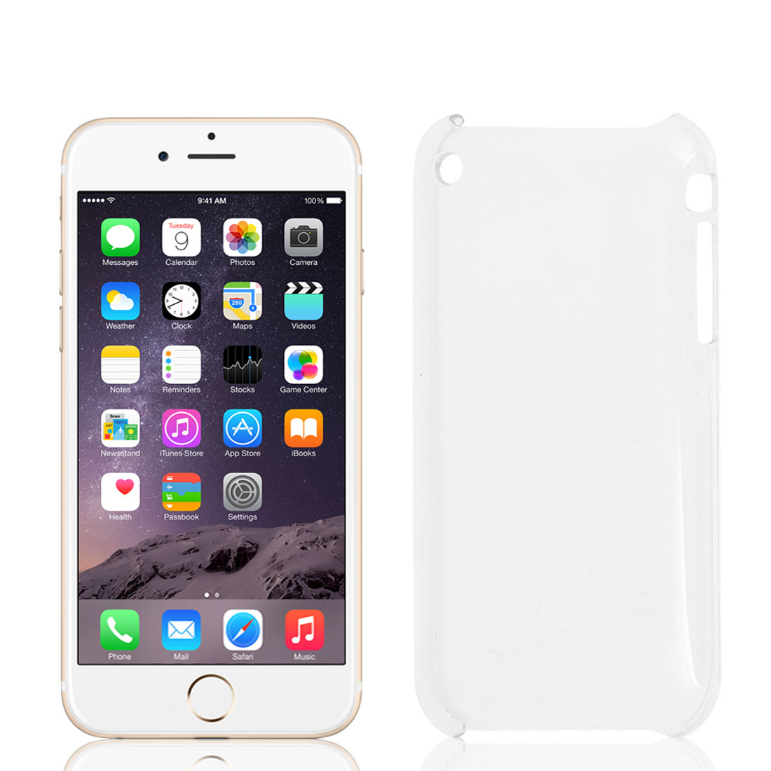 """Clear Hard Plastic Mobile Phone Back Case Cover for iPhone 6 4.7"""""""