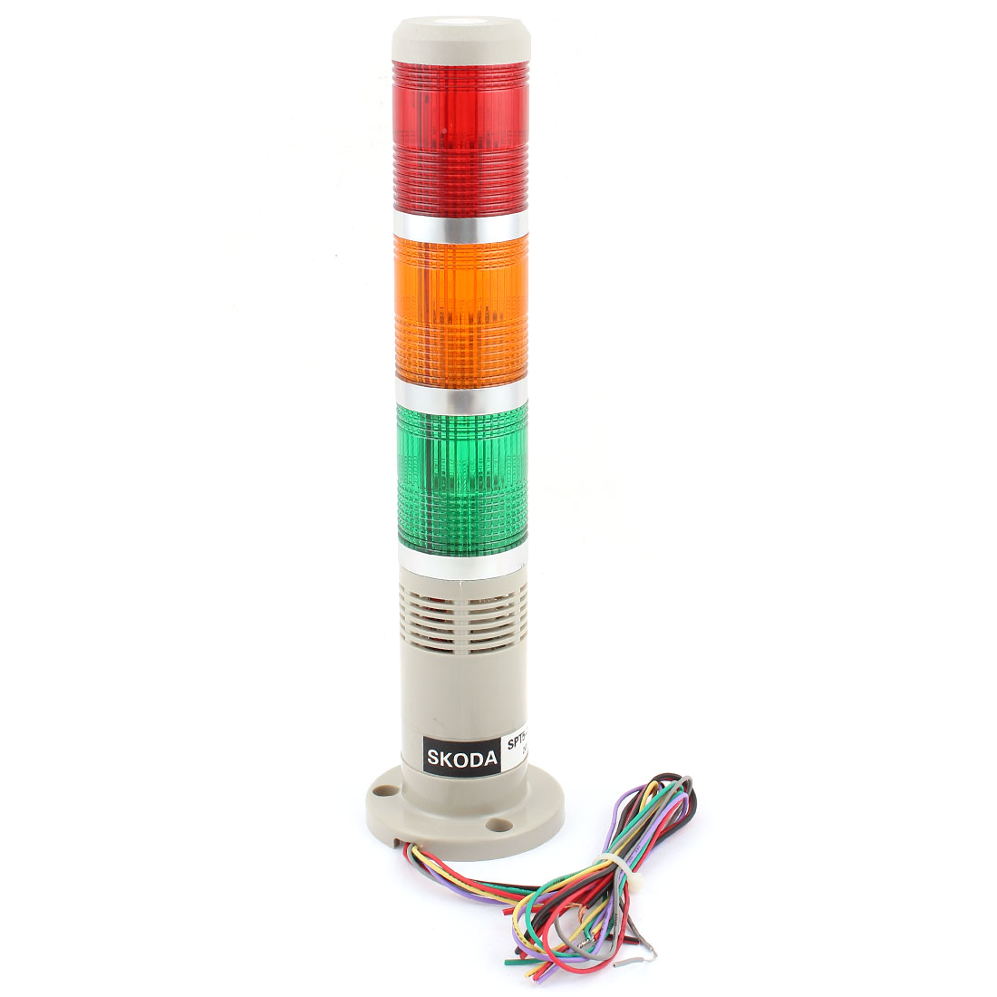 DC 24V Red Green Yellow Light Buzzer Alarm Industrial Signal Tower Lamp