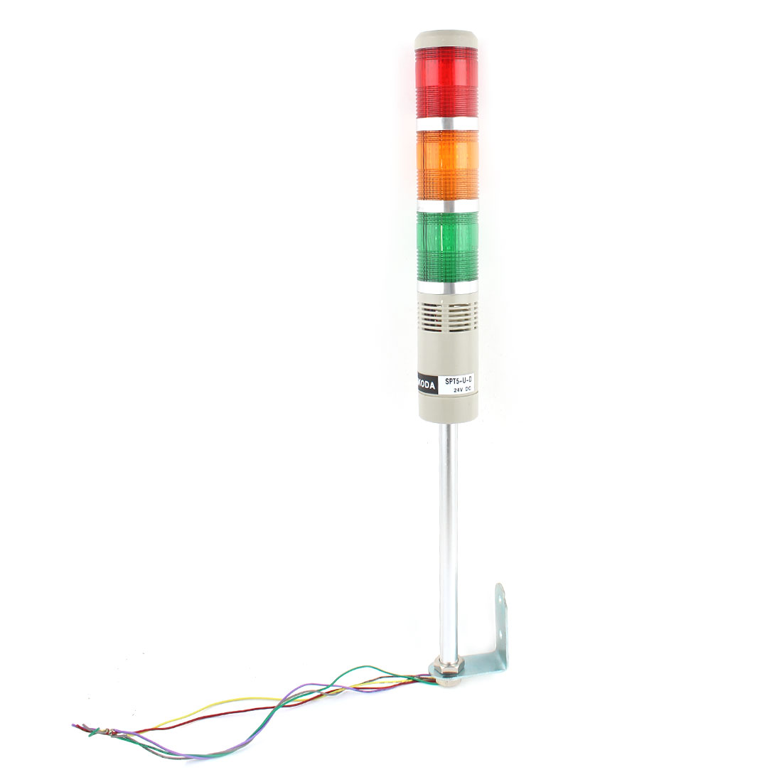 DC 24V Red Green Yellow Tri Color Light Sound Industrial Warning Signal Tower
