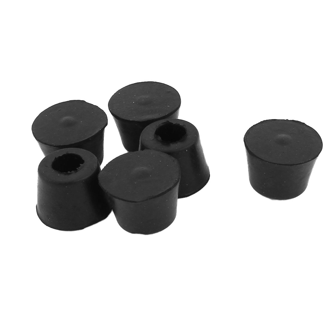 6 Pcs Black Rubber Furniture Desk Foot Pads 25x15mm