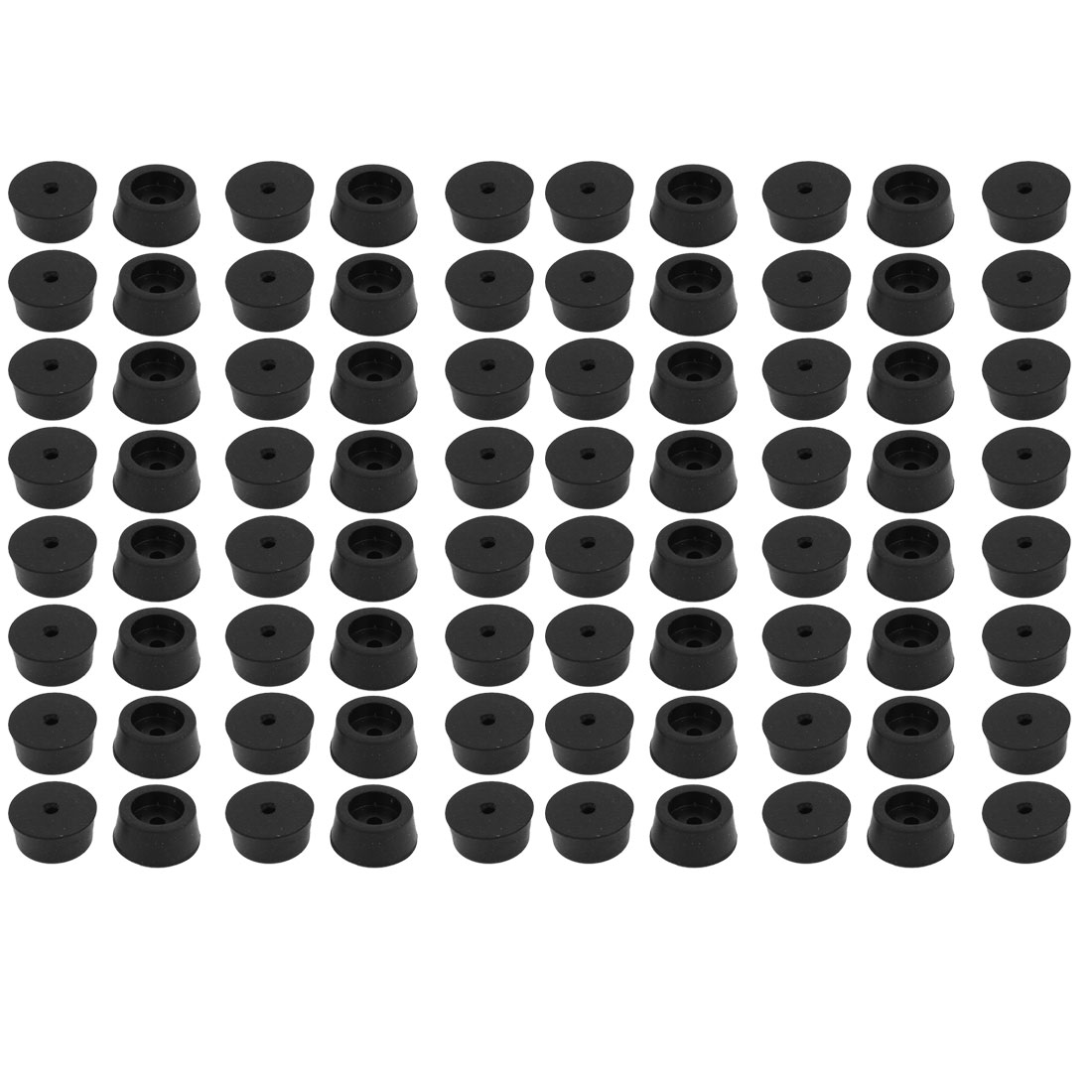 100 Pcs Black Rubber Furniture Desk Foot Pads 18x8mm