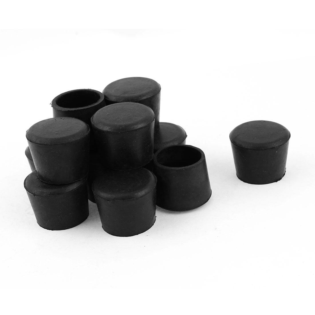 2.5cm Inner Dia Round Rubber Furniture Leg Foot Cover Holder Protector 12 Pcs