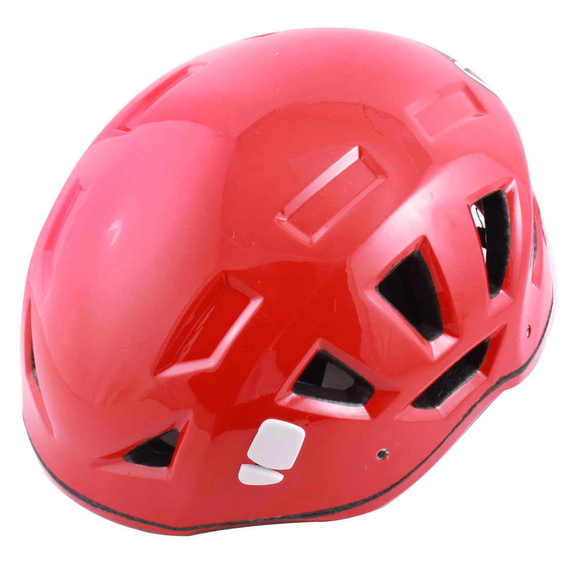 Adults Hollow Hole Design Mountaineering Sports Protective Helmet Red