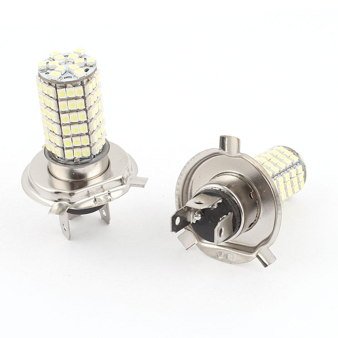 Car 3828 SMD 120 LED H4 DRL Daytime Driving Light Foglamp Head Lamp White DC 12V Pair