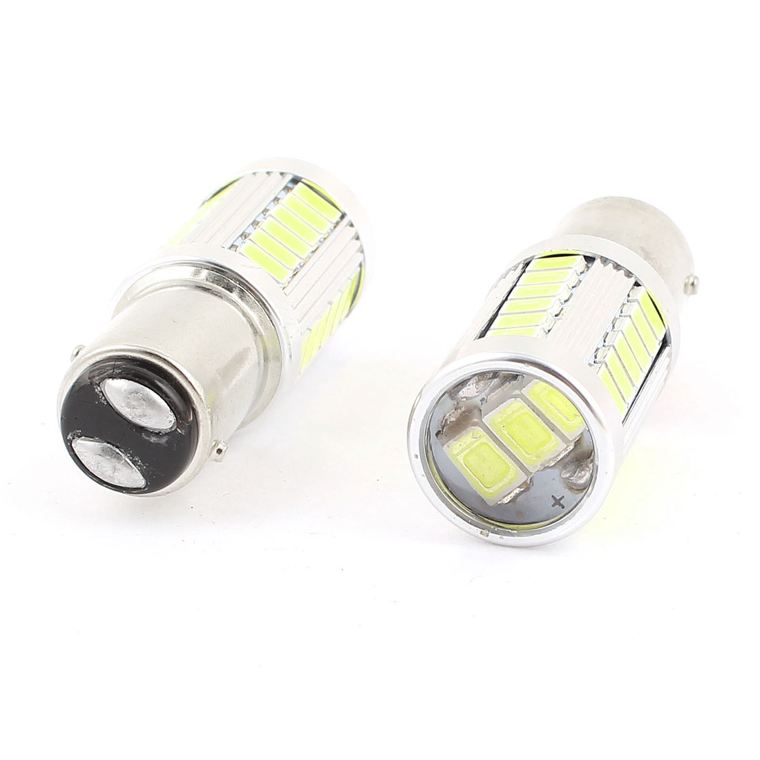 BA15S 1157 5630 SMD 33 LED Projector Lens Tail Turn Signal Light White 1073 1259 2 Pcs