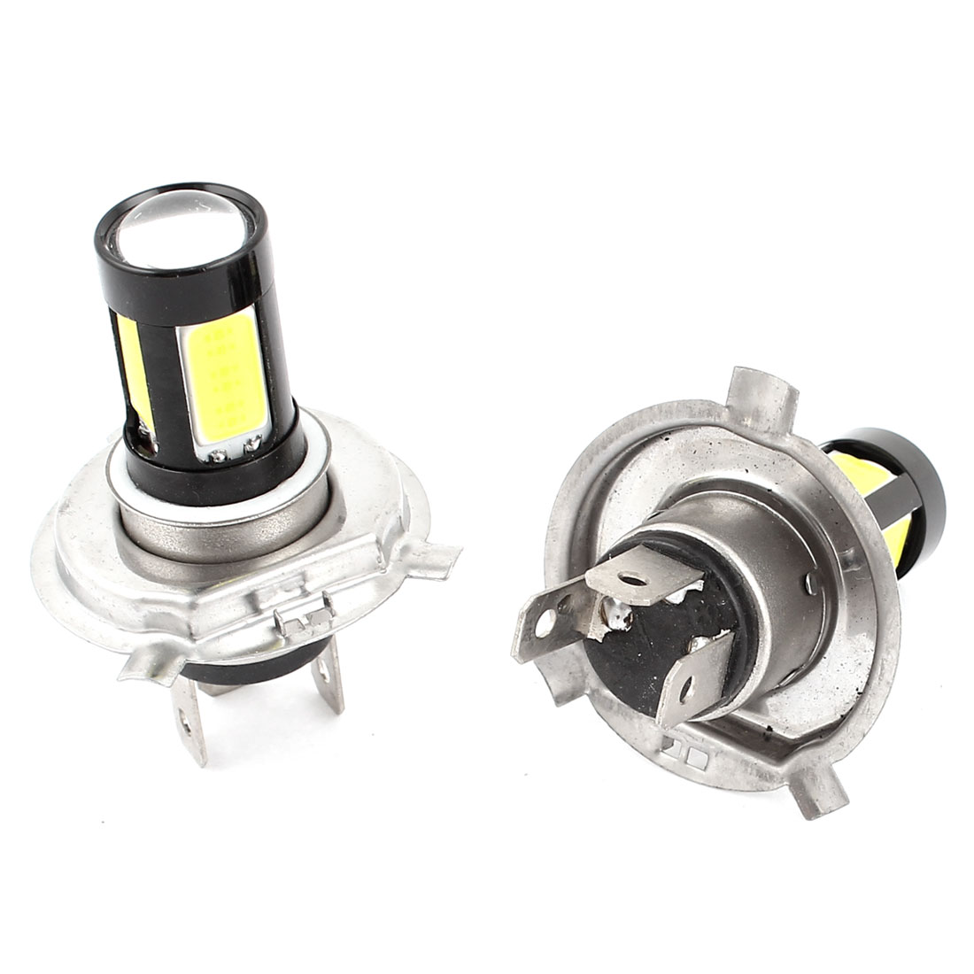 Car 5 COB LED H4 DRL Daytime Driving Light Foglamp Head Lamp White 2 Pcs