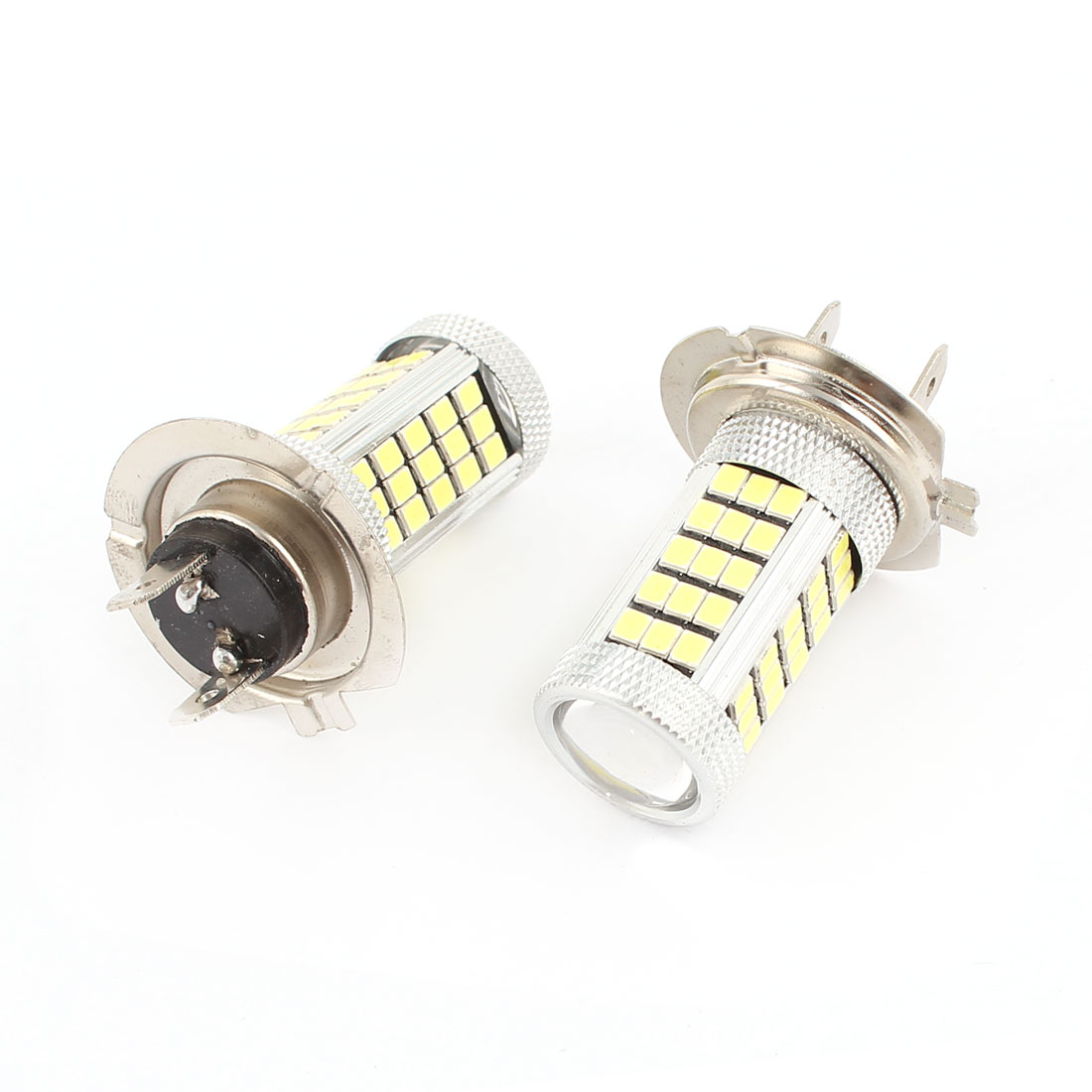 Car White LED 63 SMD 3528 Bulbs H7 Fog Daytime Light Lamp 2 Pcs