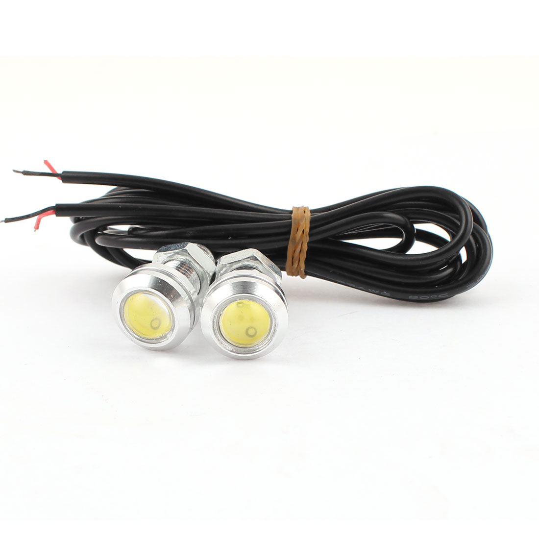 2 Pcs Thread Mounting COB Eagle Eye White Light Fog Daytime Running Tail Sidelight Lamp