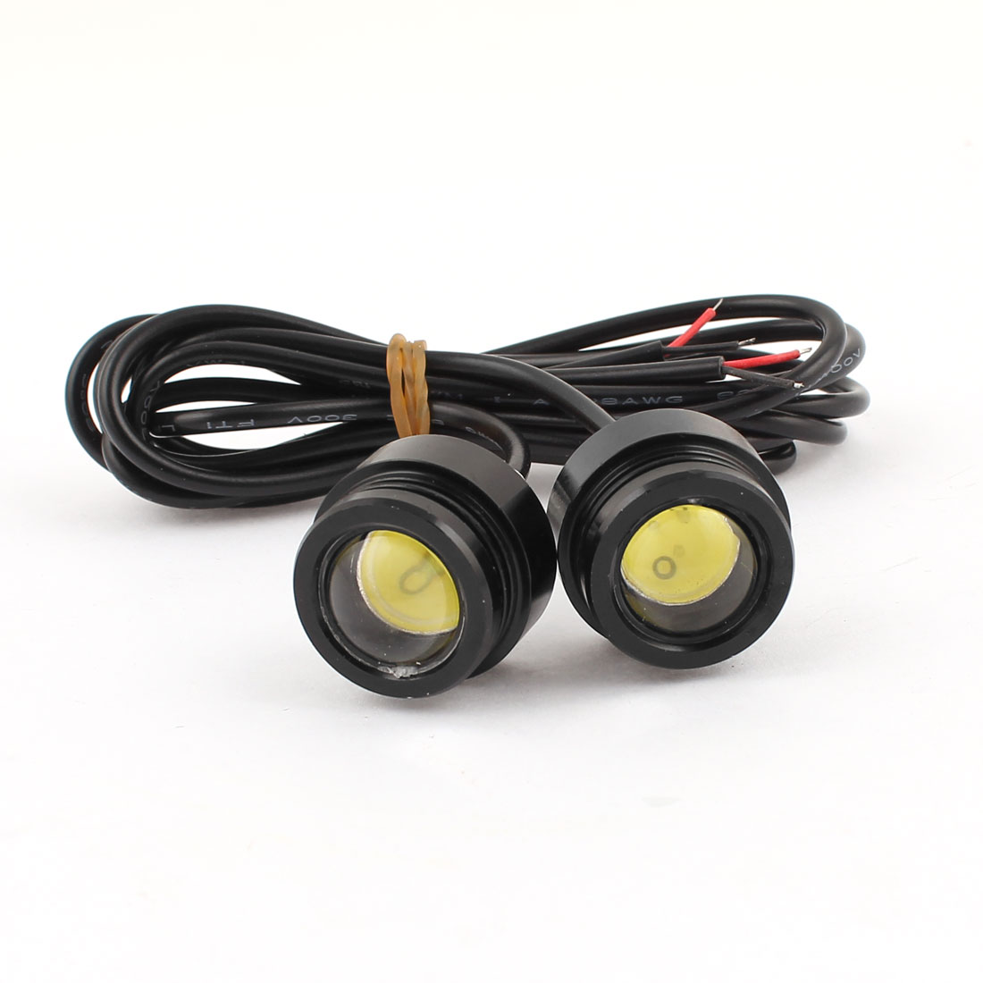 Pair White COB Eagle Eye Lamp Fog Daytime Running Reversing Sidelight Light