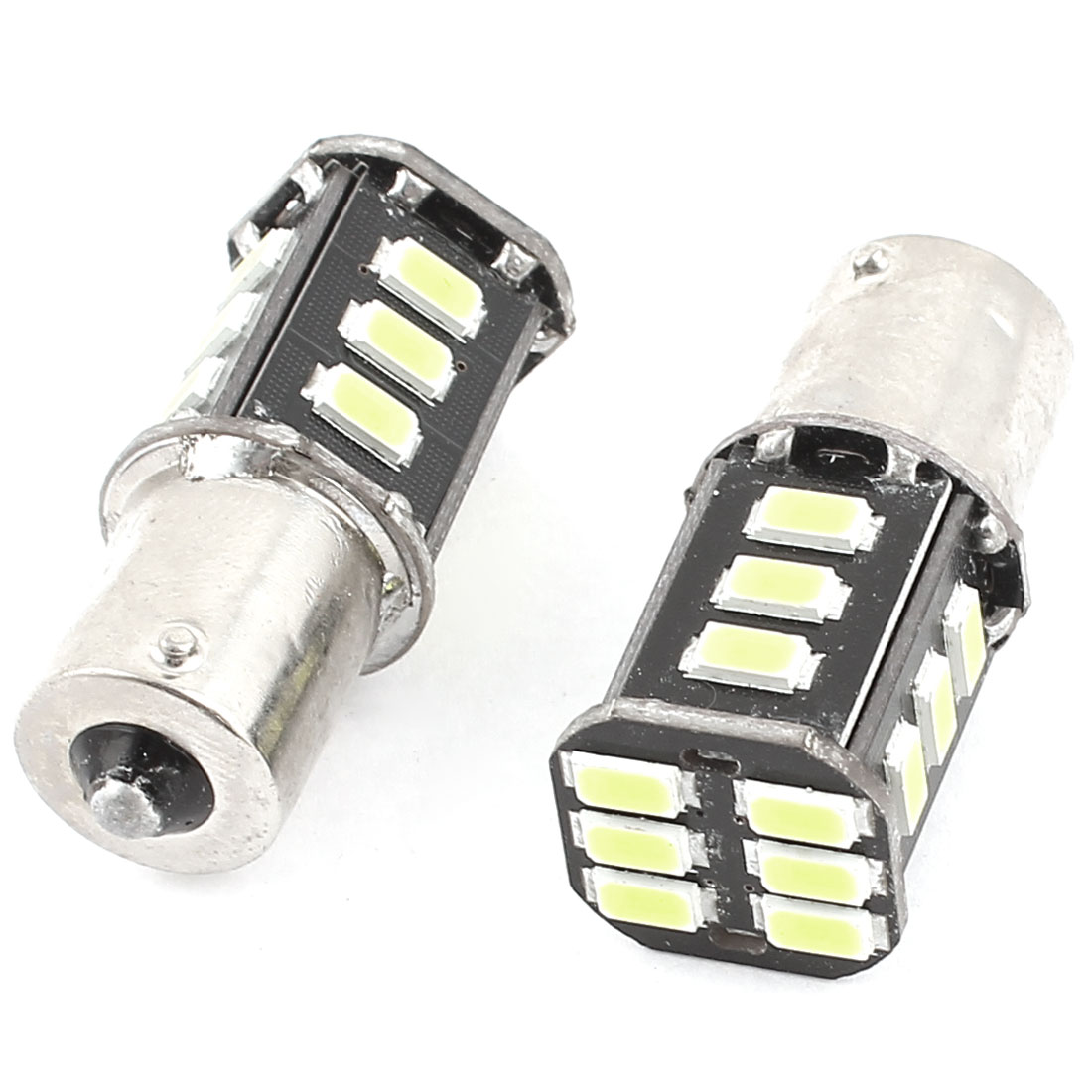 BA15S 1156 5630 SMD 18 LED Car Corner Tail Turn Signal Light White 1159 1141 2 Pcs