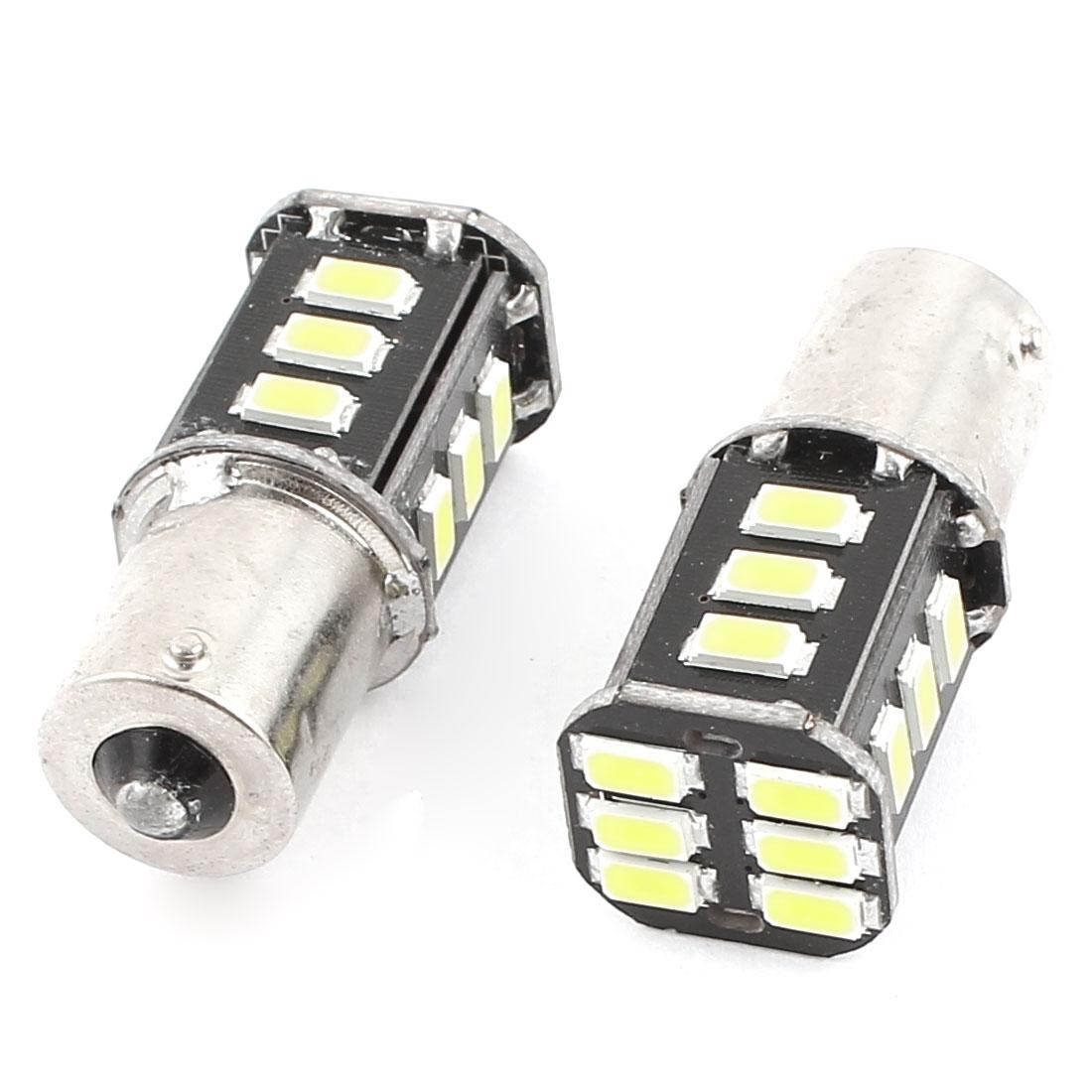 BA15S 1156 5630 SMD 18 LED Car Corner Tail Turn Signal Light White 1073 1259 2 Pcs
