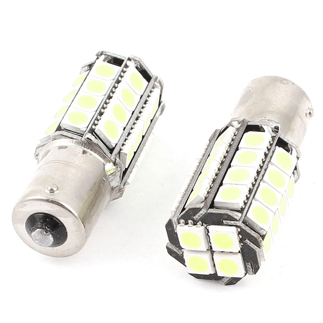 BA15S 1156 5050 SMD 36 LED Car Corner Tail Turn Signal Light White 1073 1259 2 Pcs
