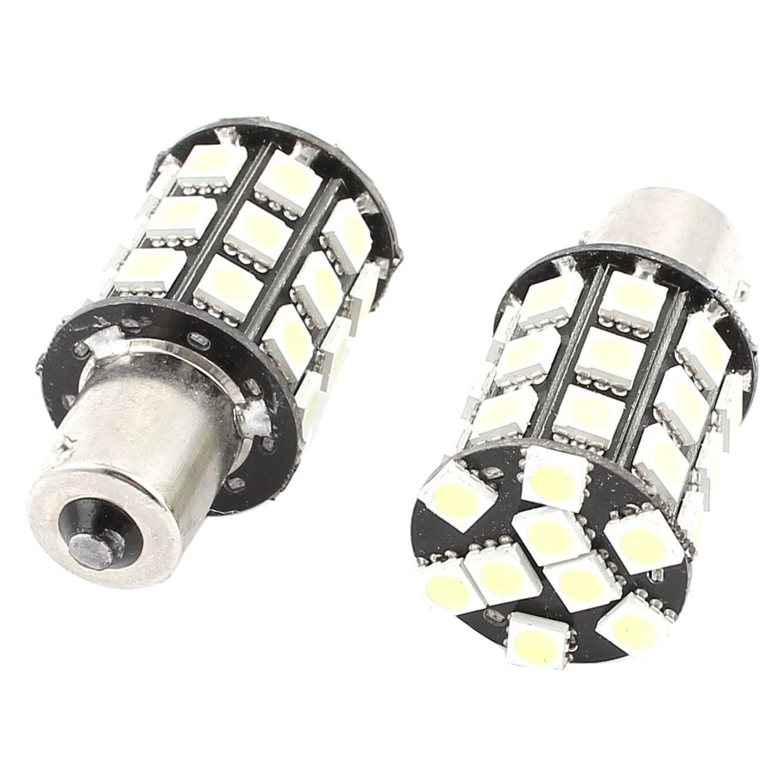 Car 5050 SMD 36 LED BA15S 1156 Corner Tail Turn Signal Light White 1073 1259 2 Pcs