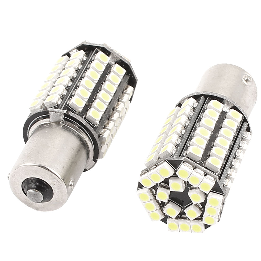 BA15S 1156 3528 SMD 80 LED Car Corner Tail Turn Signal Light White 1073 1259 2 Pcs