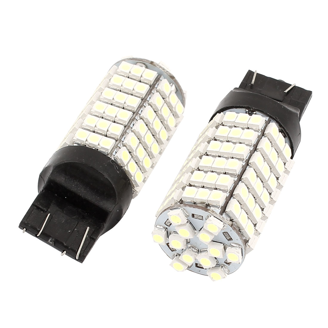 2 Pcs 7443 1210 SMD 120 LED Car Marker Light Signal Lamp Bulb White DC 12V W21W