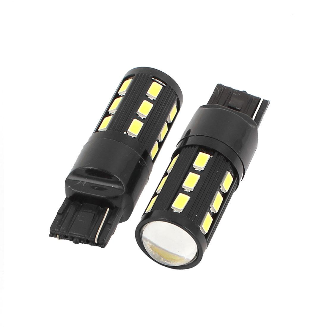 2 Pcs W21W WY21W 7440 992 5630 SMD 19 LED Turn Signal Rear Light Bulb Lamp White