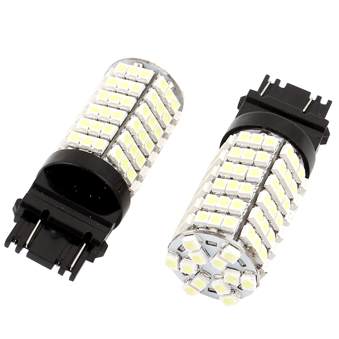 2 Pcs 7443 1210 SMD 120 LED Auto Marker Light Signal Lamp Bulb White DC 12V 7444 992A