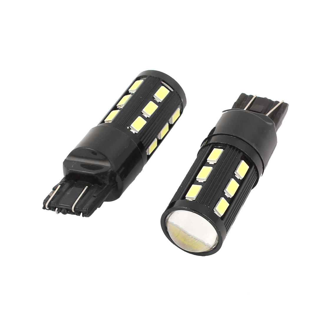 2 Pcs 7443 19 SMD 5630 SMD LED White Car Stoplight Backup Bulb White W21W
