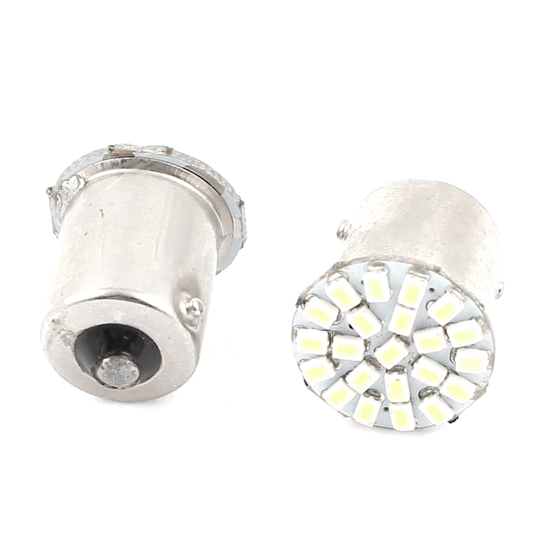 2 Pcs White 22 LED 1156 BA15S 3528 SMD Car Indicator Backup Tail Turn Light 1093