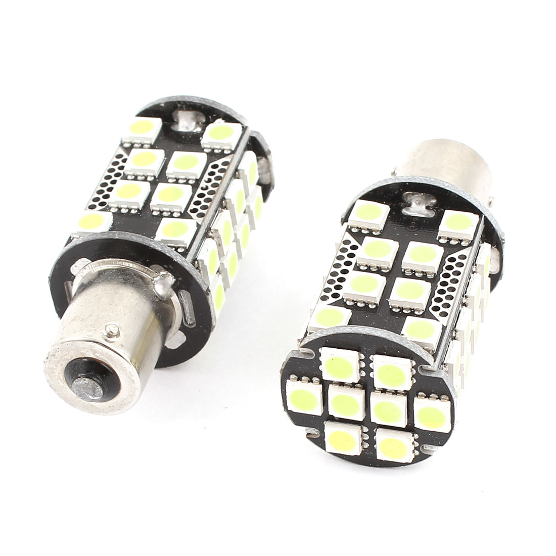 BA15S 1156 5050 SMD 40 LED Car Corner Tail Turn Signal Light White 1073 1259 2 Pcs