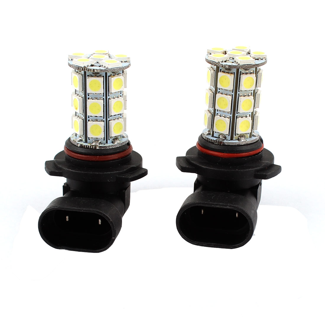 Car 9006 HB4 5050 SMD 27 LED White Head Light Daytime Bulb Lamp 12V 2 Pcs