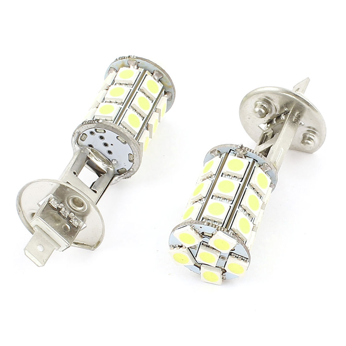 2 Pcs White 5050 SMD 27 LED H1 Car Headlight Foglight DRL Driving Light