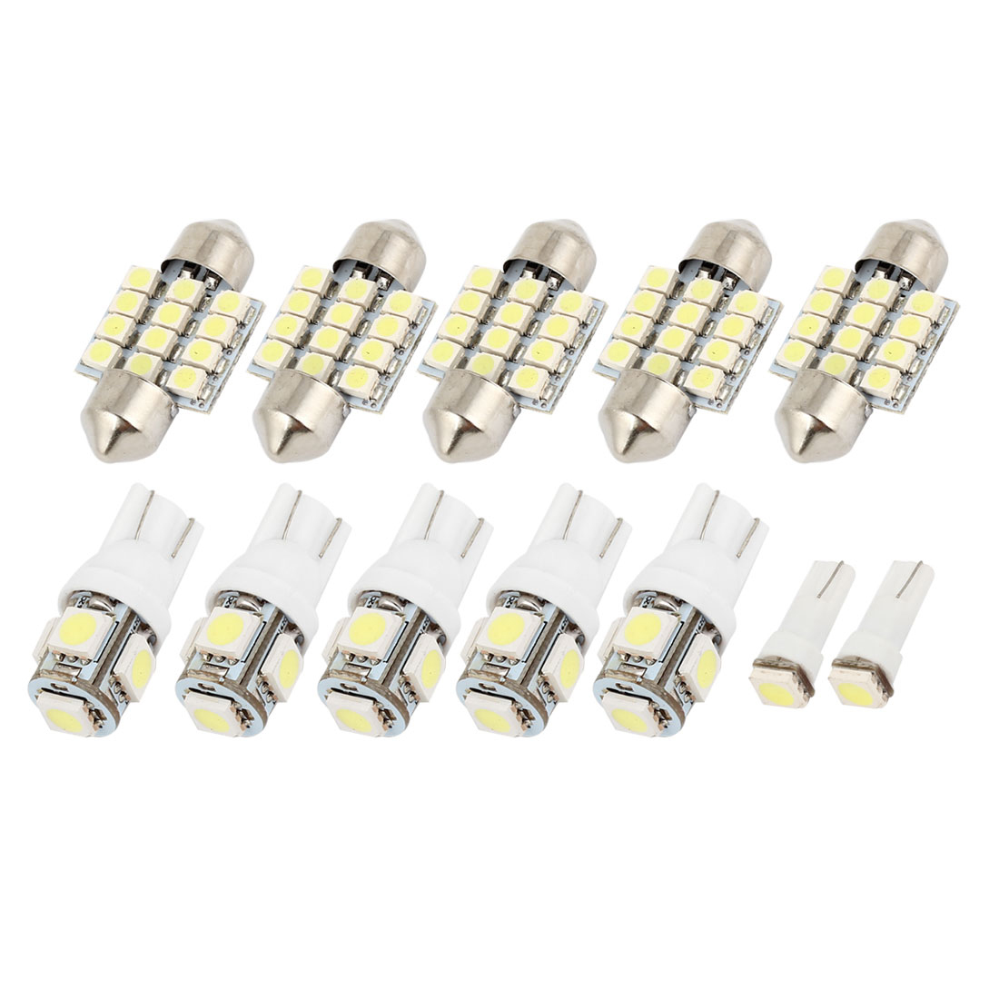 12PCS White LED Map Dome Light Lamp Interior Package Kit For Acura RSX 2002-2006