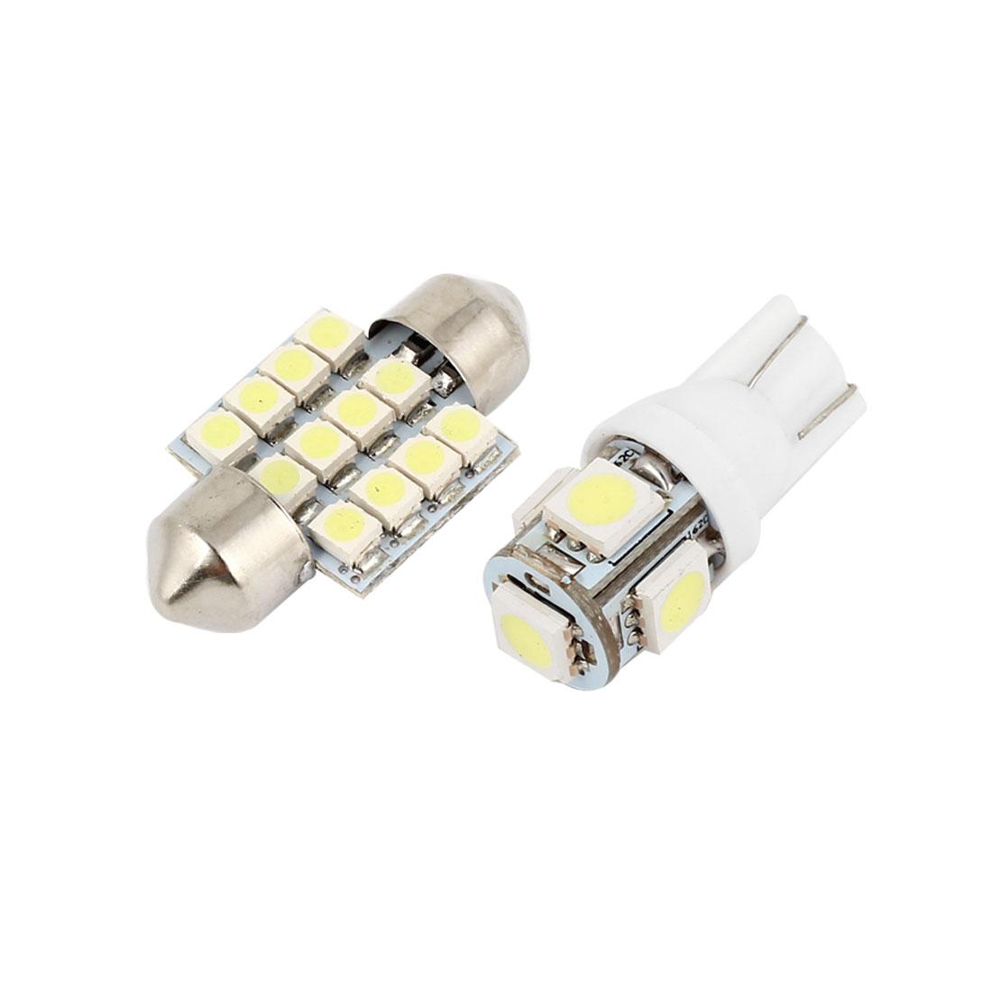 15 Pcs Dome Map White LED Lights Interior Package Kit For Toyota RAV4 2006-2012