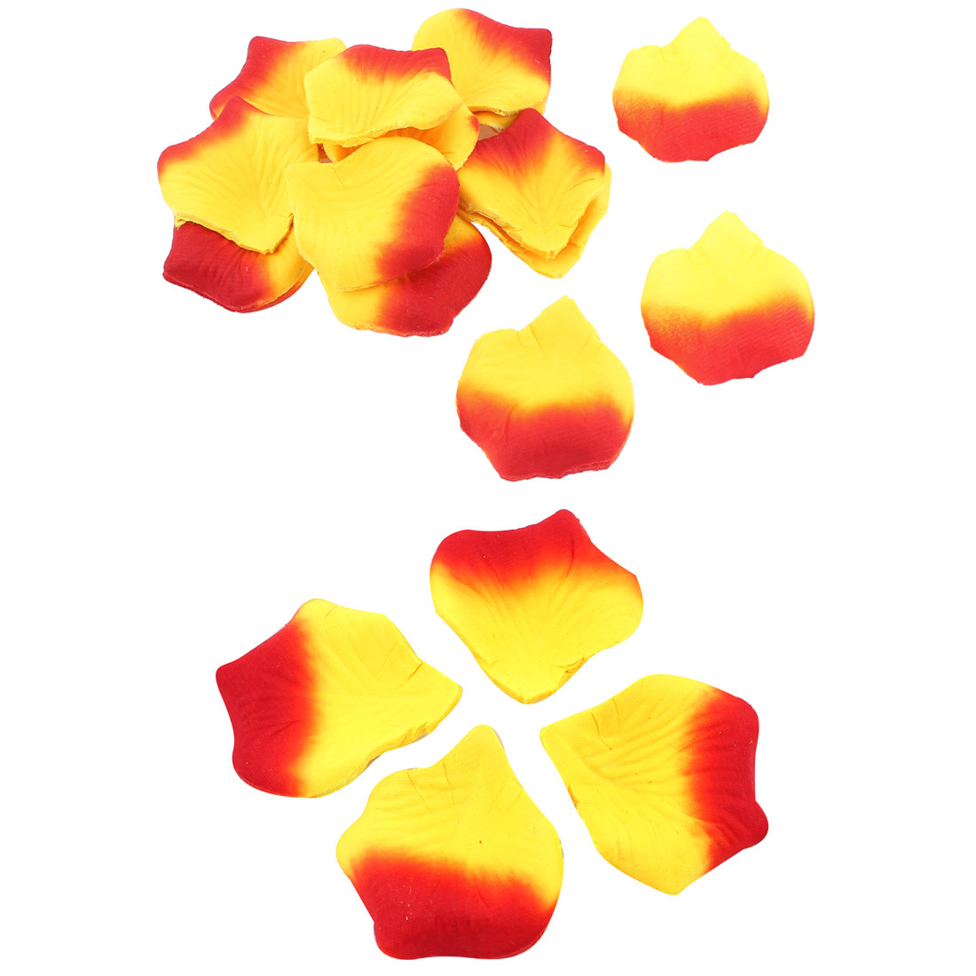 200 Pcs Wedding Festival House Accent Artificial Fabric Rose Petals Yellow Red